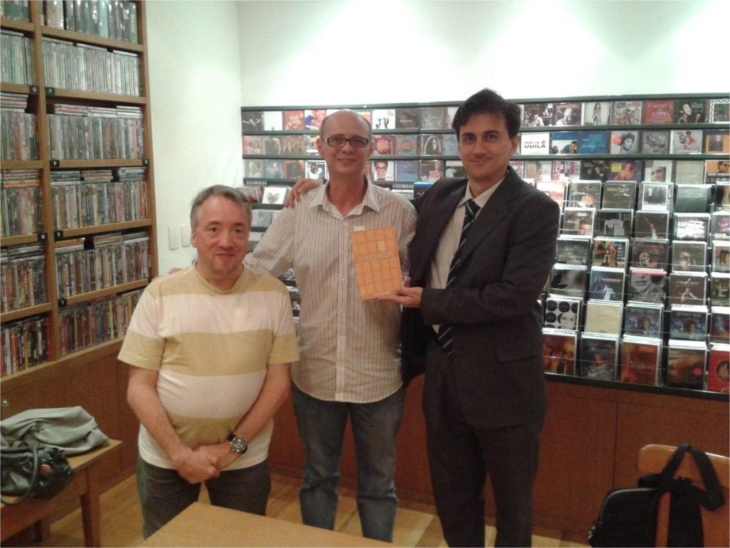 David França, ladeado por Eduardo Maia e José Blanco