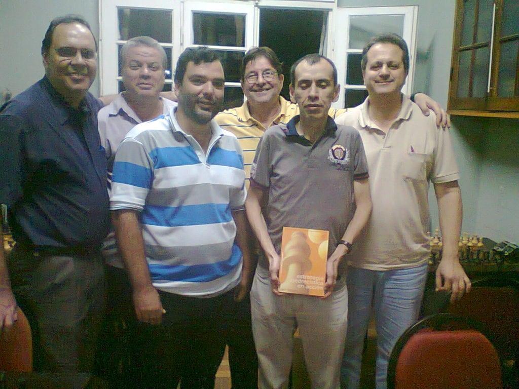 Da esquerda para a direita, David Rabello, Sérgio Murillo, Flávio Quintella, Jorge Silveira, José Chauca e Fernando Madeu