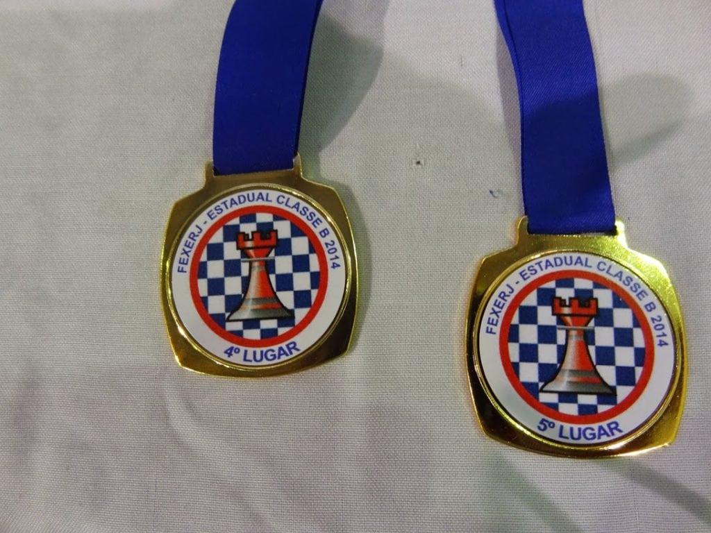 As medalhas ofertadas no campeonato
