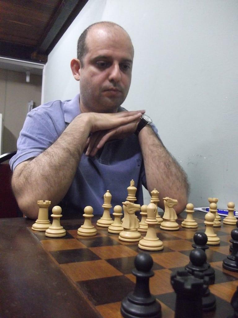 José Mauro, retornando às lides enxadrísticas.