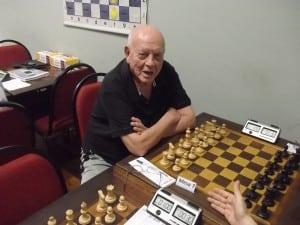 Irahy Ribeiro, enxadrista estreante nos torneios internos da ALEX.