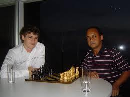Carlos Amorim recebeu Carlsen no Rio de Janeiro