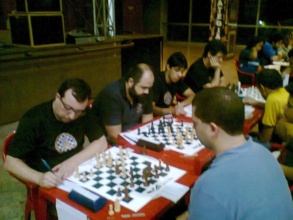 """A Equipe """"C"""" da ALEX disputando uma rodada no Campeonato Estadual Interclubes de 2012."""