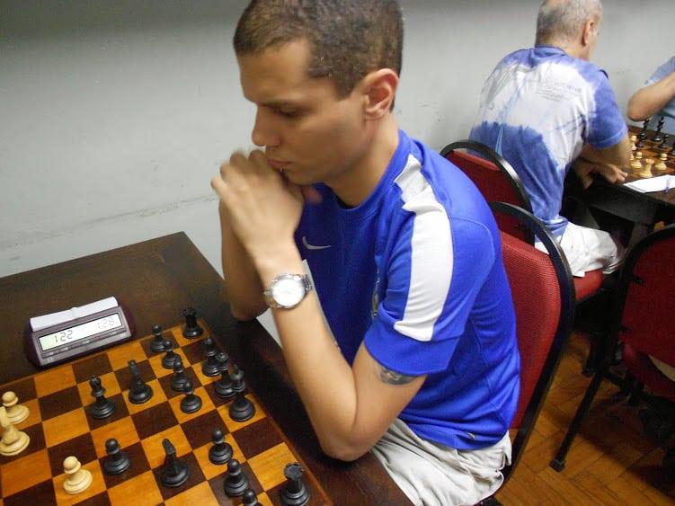 O Campeão Andre Kemper concentrado em uma de suas partidas