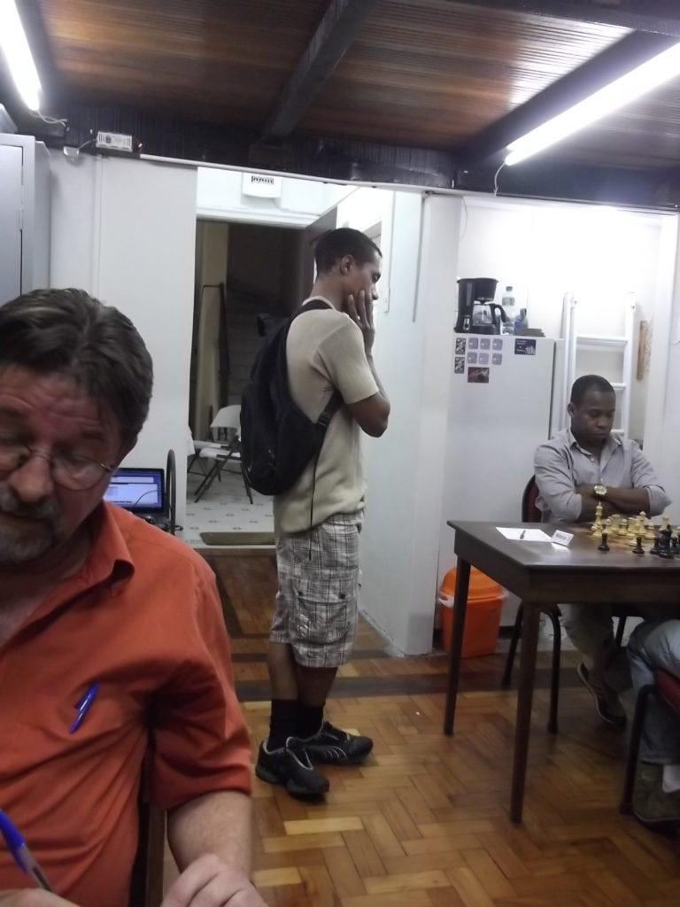 O alexano Thiago Azevedo também visitou o torneio