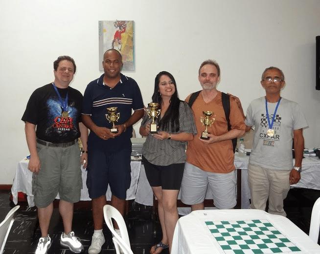 """O pódium do Popular Classe """"C"""": Reinaldo Mano (quinto lugar), Vinícius Senna (terceiro lugar), a Campeã Ayred Antara, Nicolau Santo, Vice Campeão e Luiz Sérgio Marques (quarto lugar)"""