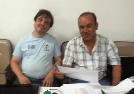 Os árbitros Marcelo Einhorn e Selmo Bastos, felizes por fazer um bom trabalho pelo Xadrez Fluminense!