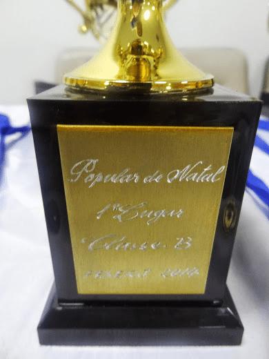 O belo troféu que António Pinheiro conquistou!