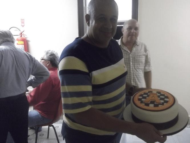 José Cláide, grande figura humana, sempre colaborando com a organização do torneio.