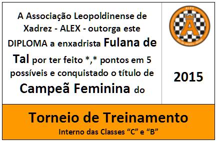 Mini Troféu Diploma Campeã Feminina