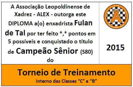 Mini Troféu Diploma Campeão Sênior