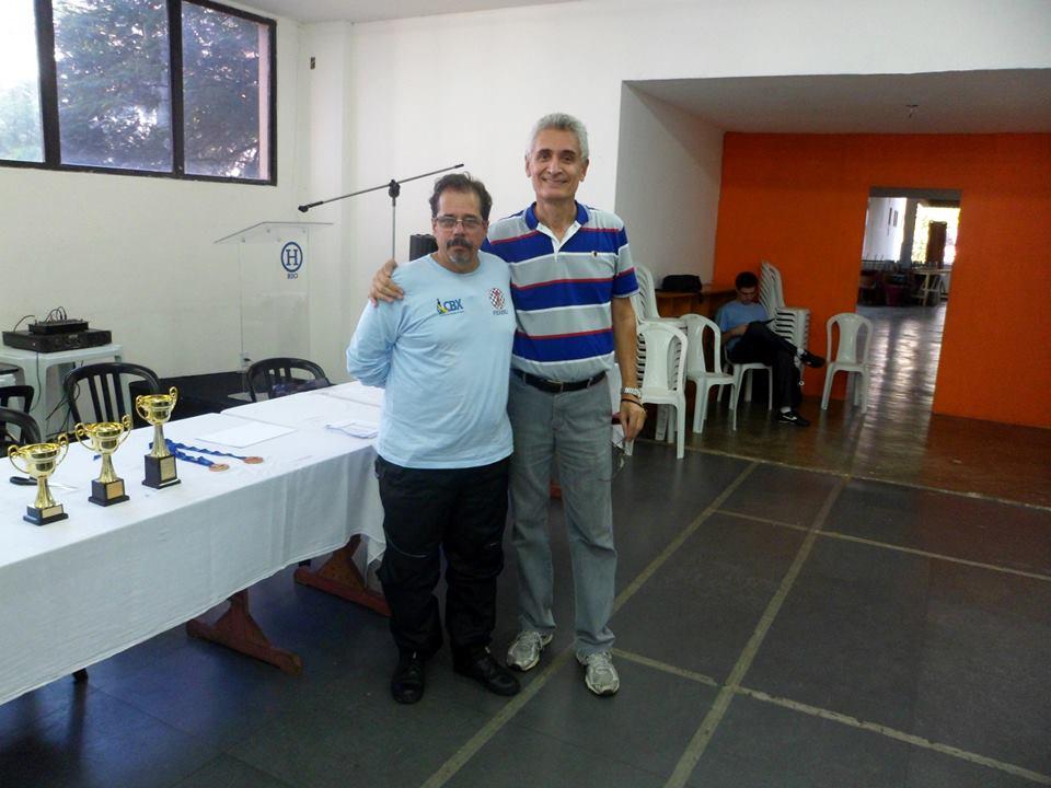 Élcio, atual Presidente da FEXERJ, juntamente com Alberto Mascarenhas, Presidente da gestão anterior.
