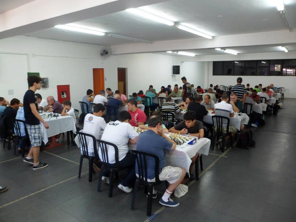 Visão geral da sala do Clube Hebraica, onde o campeonato foi realizado