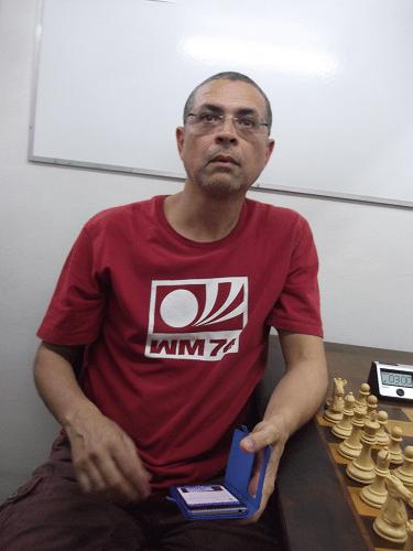 Jeferson Menezes, rating 1482, federado pela ALEX, fez 5 pontos e ficou na 12ª classificação