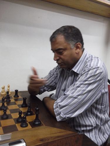 Marcelo Santos Silva, rating 1996, federado pelo CRVG, fez 5 pontos e ficou na 7ª classificação