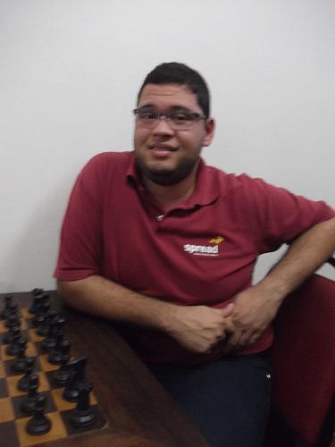 Rodrigo Alves Vieira, ainda sem rating , federado pela ALEX, fez 1½ pontos e ficou na 19ª classificação