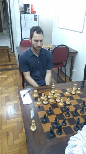 4ª Rodada - Eric em sua partida contra Aristides