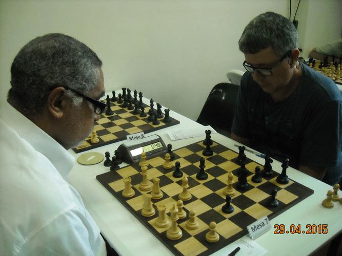 4ª Rodada - Mesa 7 - Nei Jorge Rodrigues, de brancas, venceu Jorge Antonio T. Chaves