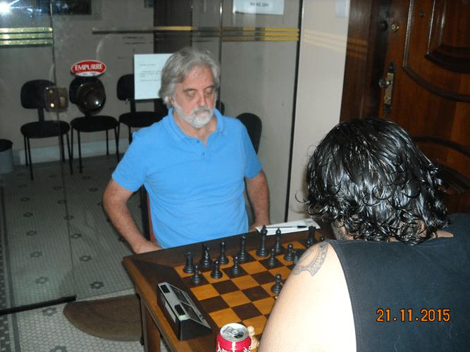 5ª Rodada - Na mesa 16 Marcos Luciano Pereira venceu Luiz Alberto da Luz