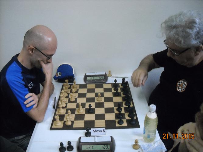 5ª Rodada - Na mesa 8 Francesco Noseda venceu Álvaro Frota