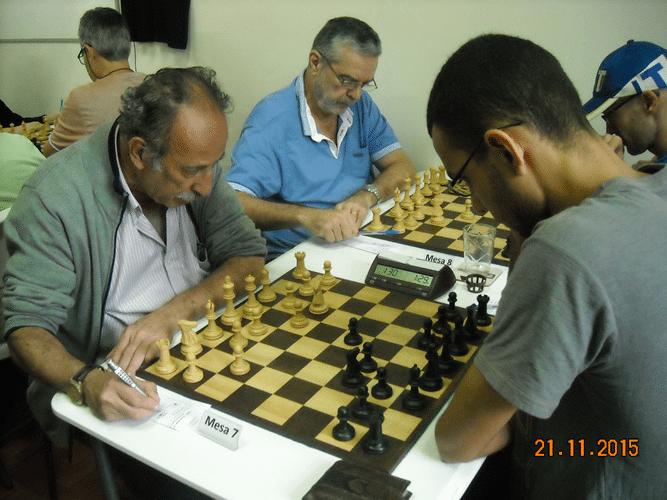 6ª Rodada - Na mesa 7 Juarez Lima venceu Ricardo Villalba