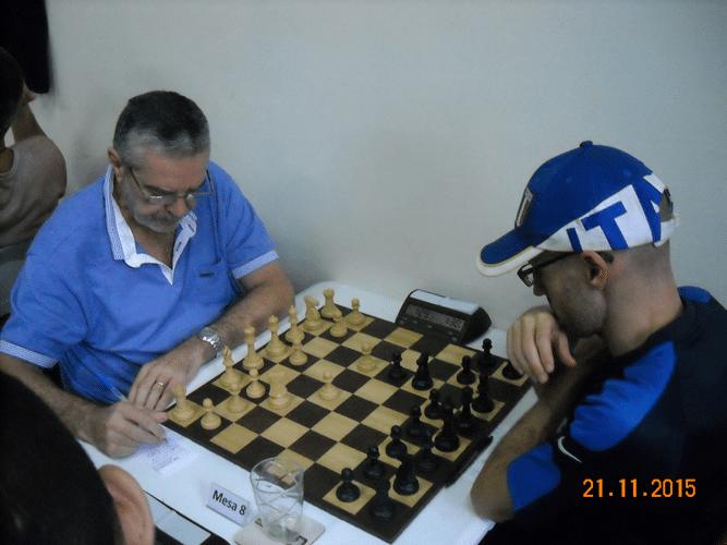 6ª Rodada - Na mesa 8 Luiz Sérgio Tiomno perdeu de Francesco Noseda