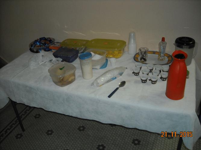 Organização - A mesa do cafezinho