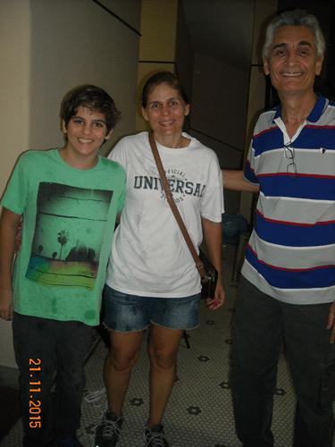 Visitantes Ilustres - Jeanpauline Jório acompanhada de seu filho Gianluca e Mascarenhas