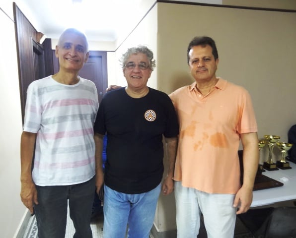 Equipe organizadora e arbitral do IRT! Mascarenhas, Álvaro e Madeu!