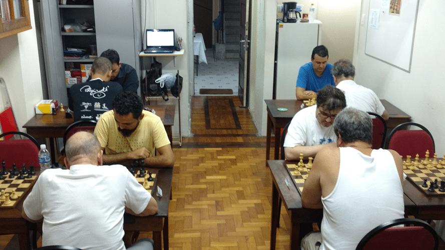 1 - Oito enxadristas jogaram um Round Robim de sete rodadas
