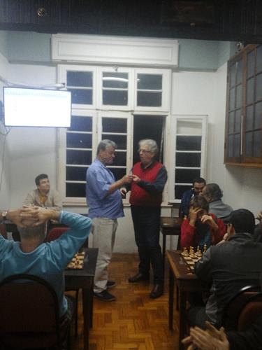 Sérgio Murilo recebeu um diploma apenas: Vice Campeão do Memorial Edward Troutman 2015