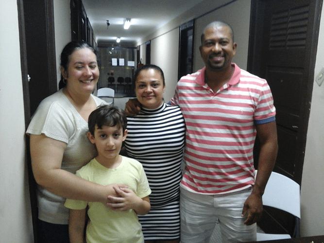 Cristiane Noronha, Victor Noronha Mesquita, Vivian Tavares e Rômulo Miranda de Souza e