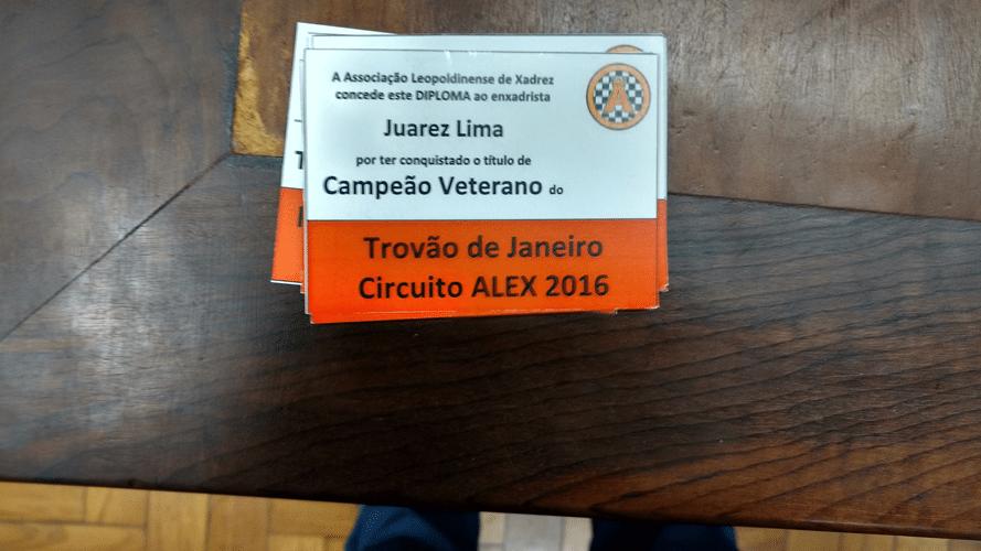 Juarez Lima Campeão Veterano do Trovão de Janeiro