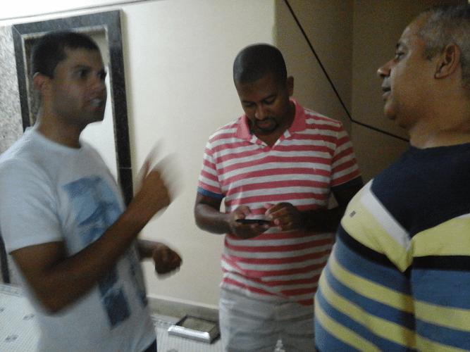 Leandro Espínola, Romulo de Souza e Claide Teixeira