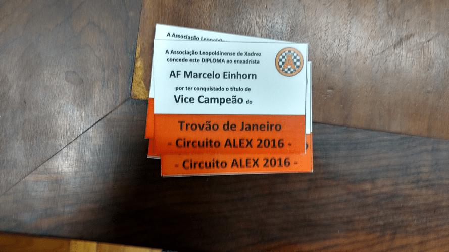 Marcelo Einhorn Vice Campeão do Trovão de janeiro