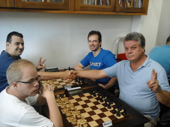 Oscar Weibull, Estevão Soares, Marcos Piñón e Sérgio Murilo