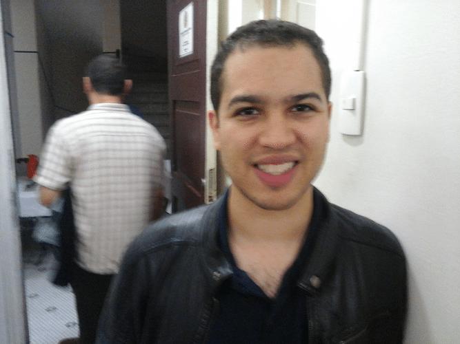 Bruno Garcia Perez não pode jogar mas prestigiou a primeira rodada do torneio
