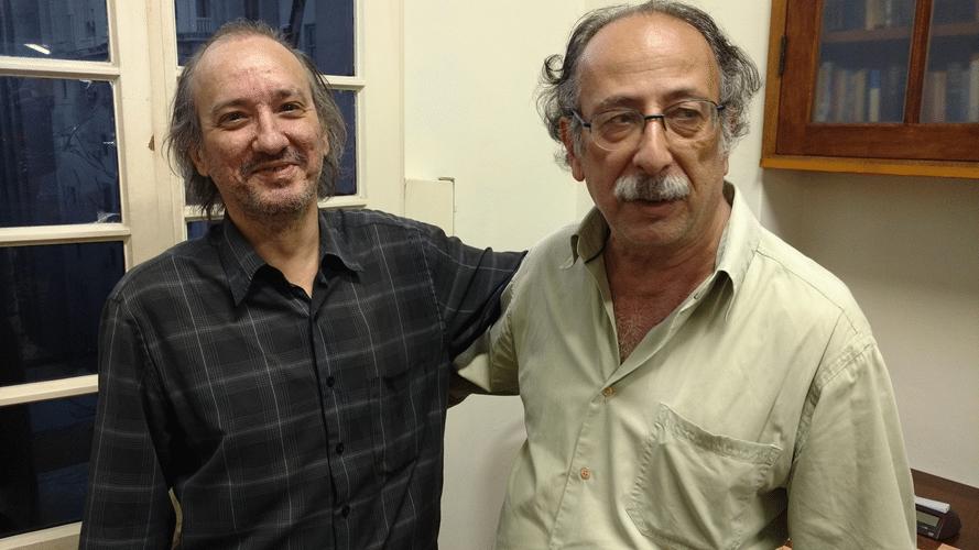 Hilton Rios, posando para a foto ao lado de Juarez Lima, foi o Grande Campeão do Rápido FIDE de Junho