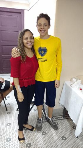 Rafael Freitas de Brito e sua mãe Bárbara