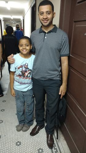 Yago Pessanha Sabino e seu pai Rafael