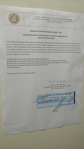Convocatória da AGE 2017
